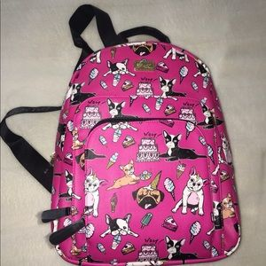 """Betsey Johnson Frenchie """"Birthday Party"""" Backpack"""